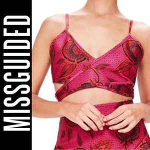 Missguided Wrap Strap Detail Bandage Crop Top